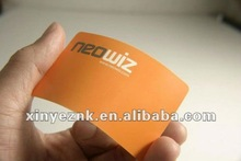 good flexibility and hard wearing plastic card with 4c+4c color printing