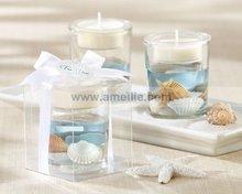 AC045 Wholesale Sandy Beach Wedding Favors Cheap glass candle holder