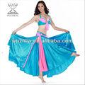 Qiancai wuchieal sexy cigana dança do ventre desgaste de desempenho, roupa dança do ventre, azul sexy dança do ventre( qc2069)