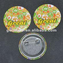 2012 New fashion round custom decorative pin badge