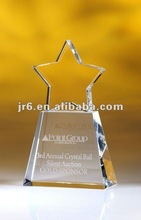 2012 New Arrival Clear Star Optical Crystal Award with Clear Base