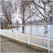 Cheap vinyl garden fence white color plastic