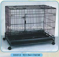 Square tube Dog Cage 76X48X74cm