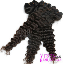 100% human virgin deep wave indian remy hair weft,many other styles in stock