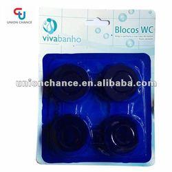 4 Pack Auto Harpic Blue Bubble Toilet Cleaner