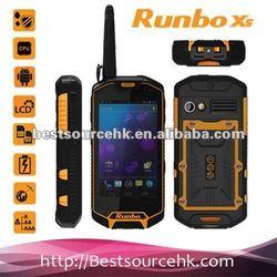 Manufacture Runbo X5 IP67 GPS/3G/Bluetooth/Wifi/Walkie-Talky waterproof shockproof mobile phone