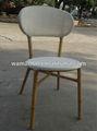 rattan do pe alumínio bambu olhar cadeira de jantar para exterior