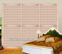 Plain Wooden wardrobe Sliding Door