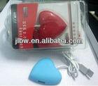 cute Red Heart Shape Usb Hub 2.0