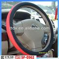Pvc cor vermelha/pu aquecida carro volante cobre venda de fabricação