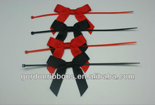 Particular Gift Packaging Bows, 100% polyester grosgrain ribbon packaging bow