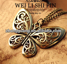 fashion alloy butterfly Pendant necklace jewelry