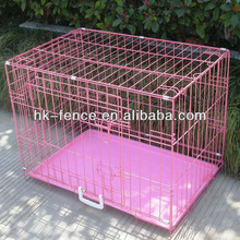 "48"" 3 Door Folding Suitcase Decorative Dog Kennel With Metal Pan"