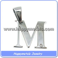 Stainless steel alphabets letter pendants P8737-M