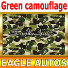 Sticker Bombing K24 Green Camouflage Car Wraps With Air Channels / Size: 98 ft x 4.9 ft / DROP SHIPPING