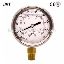 "2"" Vacuum Pressure Gauge 1/4"" NPT -30HG/0PSI"