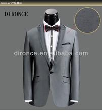 2014 shiny grey slim fit 1 button men wedding suits