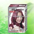 Profissionais europeus da tintura de cabelo marca, europeu de cabelo de cor