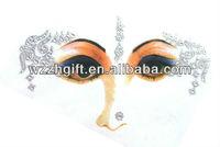 Bindi Sticker Body Tattoo Bollywood Belly Dance Performer Crystal Eye Jewelry