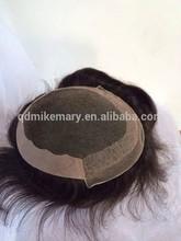Bleached knots men's toupee/hairpiece, French lace/Swiss lace/PU/Fine Mono