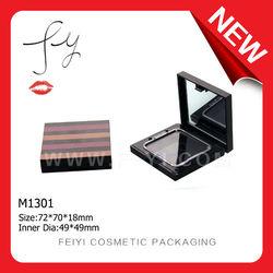 Zebra pattern square compact powder case