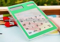 8-Digit Dual Solar Power Transparent Calculator