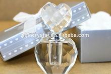 Heart shaped crystal wedding favor perfume bottle