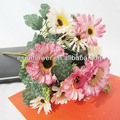 2014 hot venda sytle europeia margarida bouquet de mini flores de seda artificial