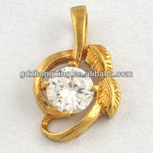 Fashion jewelry rhinestone initial charms