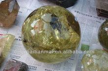 Wholesale Sizes of Yellow TOPAZ Quartz Crystal Ball / Citrine Rock Crystal Sphere Ball hot sale / Natural Magic Ball Healing