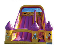 PVC Material and fine wormanship inflatable slide for fun