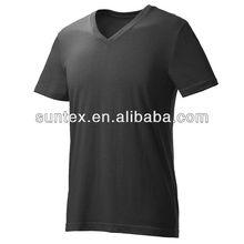 2013 New Fashion 100% Cotton Plain v neck t shirt Manufacturer