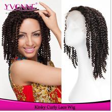 Kinky curly wig brazilian human hair wig