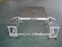 aluminium table and chair for camping use