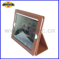 2012 Hot Sales Leather Case For iPad 3 With Stand--Laudtec