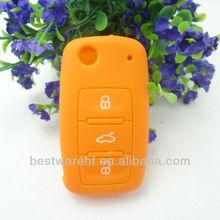 Fashion VW remote controller,fob silicone key shell, key jackets