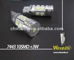SMD LED Car Brake Light 10~30V 7443 10SMD(5050) 3W