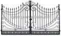 puerta de hierro de diseño