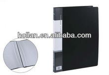 High Quality PP A4 black File Folder with Pockets