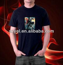 WOW batman light,led t shirt/el t-shirt Online Shopping