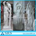 china weißem marmor stein nackte frau statue