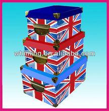 home custom fancy foldable decorative paper storage box with lids wholesale