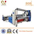 Horizontal tipo de doble eje de rebobinado de papel cortadora rebobinadora máquina, papel de la pared de la máquina rebobinadora, de papel kraft de corte de la máquina