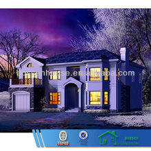 two storey simple furinished prefabricated homes villas