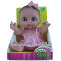 9 polegadas real linda blue eyes baby doll, boneca de vinil