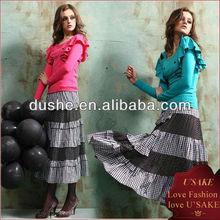The classic stitching new England plaid dress