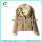 Fancy latest womens clothing short slim style with large fur collar long sleeve ladies beautiful coat & jacket