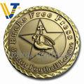 custom 2013 banhados a ouro em relevo esculturas de metal da moeda