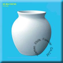 unpainted ceramic bisque vase
