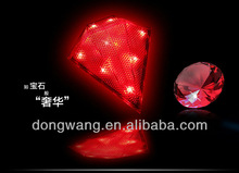2012 hot high quality waterproof bicycle diamond laser tail light